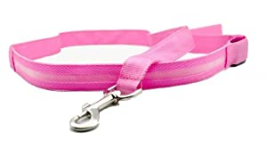 Namsan Dog Puppy Doggie Pet Nylon Fashing Leash Leads 2.5*120CM 6 Colors - Pink
