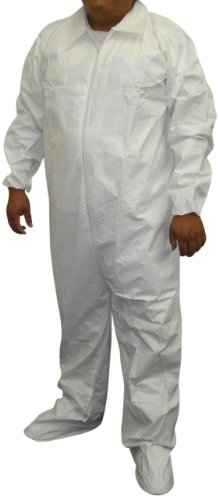 Galaxy Products MPC25L Micro-Porous Disposable Coveralls, Size L, 25-Pack