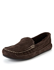 Freshfeet™ Suede Moccasins with Silver Technology