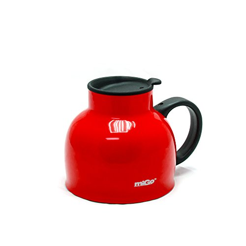 Migo Double-Wall Stainless Steel Thermal Chubby Mug 16Oz Red