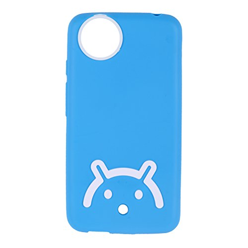 Iway Android Smiley Matte Finish TPU Soft Back Cover for Spice Dream Uno Android One MI-498 - Blue
