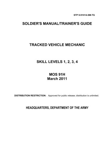 Soldier Training Publication STP 9-91H14-SM-TG Soldier's Manual/Trainer's Guide Tracked Vehicle Mechanic Skill Levels 1,