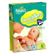 Pampers Dry Max 60 Ct Swaddler Diaper Mega Pack – Newborn image