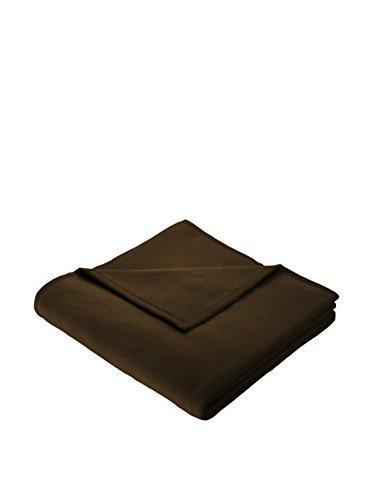 QOOL Biederlack accogliente coperta 150x 200cm bordo 4lati, 40%_Poliestere/60%_Cotone/Cotone, Chocolate, 150 x 200 cm