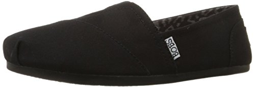 BOBS from Skechers Women's Plush Peace and Love Flat,Black,9 M US (Bobs Shoes Womens compare prices)