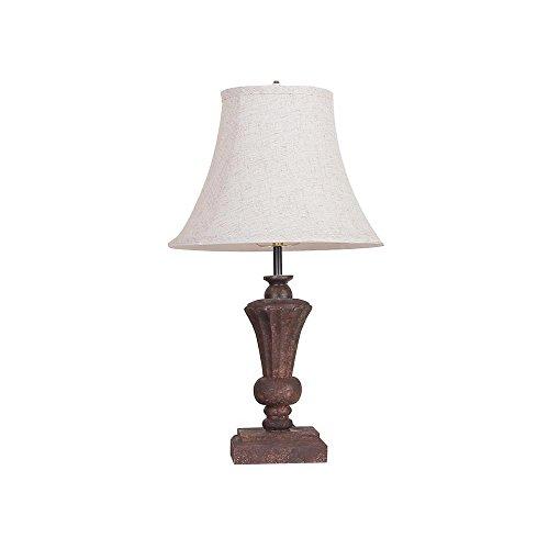 Adeco LP0059 Table Desk Lamp - 12 Inch Modern Style, Wood Base and Post, Fabric Shade, 40 Watt, Home Art Decor