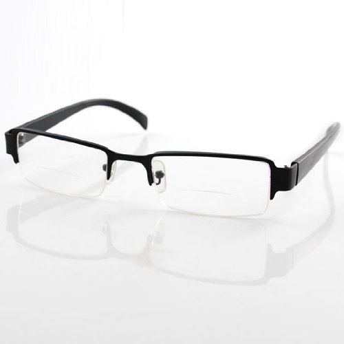 Thg Stylish Black Frame Men Unisex Bifocal Presbyopic Reading Glasses Eyeglasses +2.50 Magnifying Magnifier Reader Eyewear front-987024