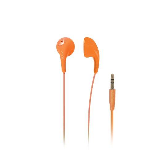 Iluv Iep205Org Bubble Gum 2 Flexible, Jelly-Type Stereo Earphones - Orange