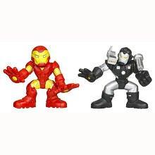 Marvel Superhero Squad Series 16 Iron Man & War Machine Action Figure 2-Pack
