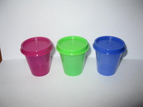 Tupperware Wichtel-Set (3), 3 Wichtel in grün, rot und lila