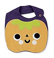 Pure Cotton Pumpkin Bib