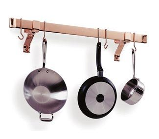 Cheap Enclume Stainless Steel 48 in Rolled End Bar Pot Rack RB48-SS (RB48-SS)