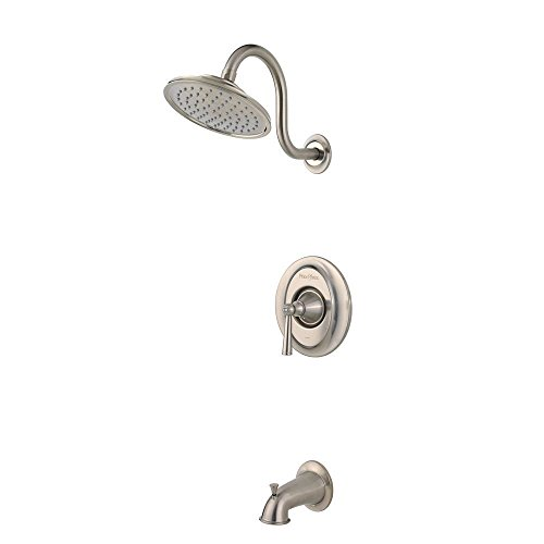 Pfister G898GLK Saxton 1-Handle Tub & Shower Trim in Brushed Nickel (Pfister Rain Shower Head compare prices)