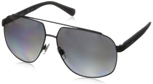D&G Dolce & Gabbana Men's Mimetic Oval Sunglasses,Matte Black,61 mm