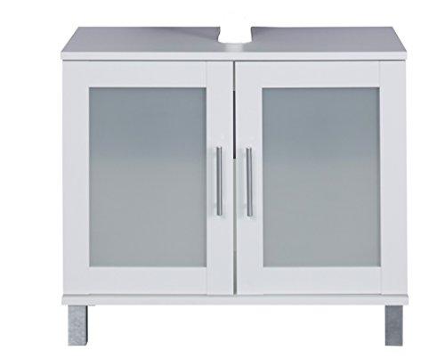 trendteam-FLO30101-Waschbeckenunterschrank-Wei-Melamin-Glas-Satiniert-BxHxT-65x56x33-cm