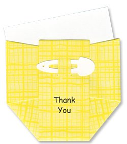 Baby Thank-you Cards - Sunshine Yellow Diapers