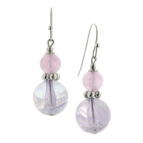Sweet Round Drops Lavender Earrings