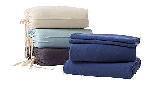 GOTS Certified Luxury Super Soft 100% Organic Cotton Bed Sheet Set King Natural (Organic Bed Set compare prices)
