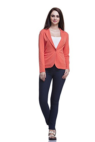 Femella Women's Blazer (DS-1446428-831_Orange_Small)