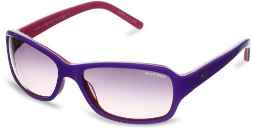 Tommy Hilfiger TH1148S Rectangular Sunglasses,Violet,White & Pink,53 mm