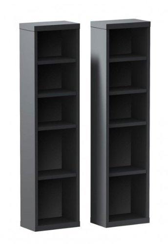 InfiniT Media Storage Towers Set of Two Black