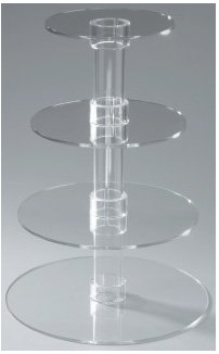 Utenlid 4-Tier Stacked Party Cupcake and Dessert Tower - Clear Acrylic Cake Stand at Amazon.com