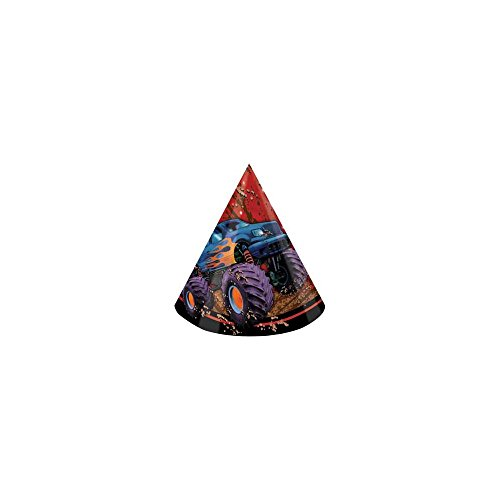 Monster Truck Party Hats (8-pack) - 1