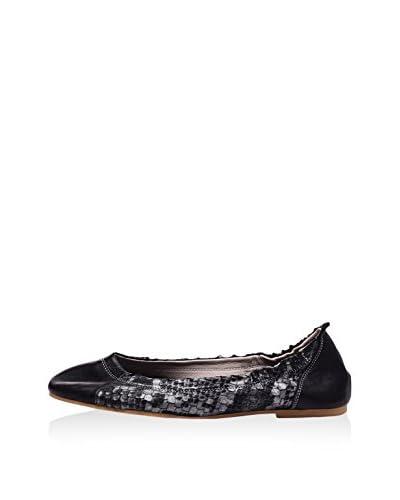 Lizza Shoes Ballerina Lz-6157 schwarz/silberfarben