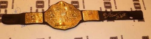 [Bret The Hitman Hart Signed WWE WWF Championship Toy Belt PSA/DNA COA Autograph] (Wwe Bret Hart Costume)