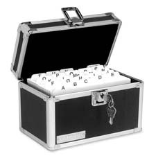 Buy FILE,STORAGE BOX,3X5,BK