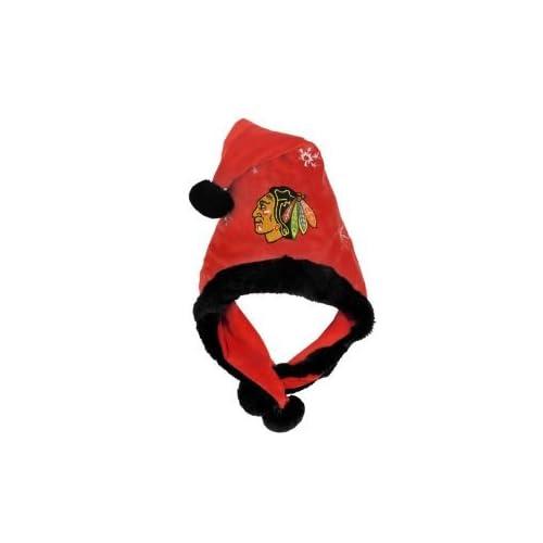 Chicago Blackhawks NHL Official Team logo rink Dangle Santa Hat *NEW ITEM*