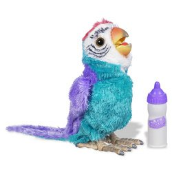 .com: Fur Real Friends Collectible Bird - Blue/Violet: Toys & Games