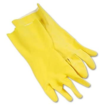 Amazon.com - GALAXY 242L Flock-lined Latex Cleaning Gloves, Large ...