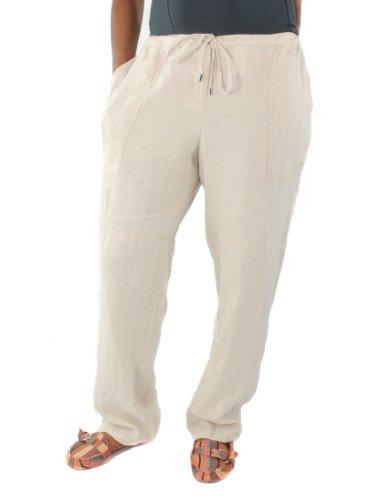 Michael Michael Kors Plus Size, Women'S Linen Drawing String Pants (16 Plus, Hemp)