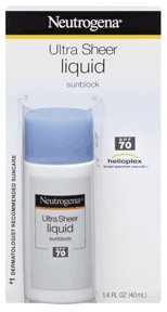 Neutrogena Ultra Sheer Liquid Sunblock, SPF 70, 1.4 Ounce (Pack of 3)