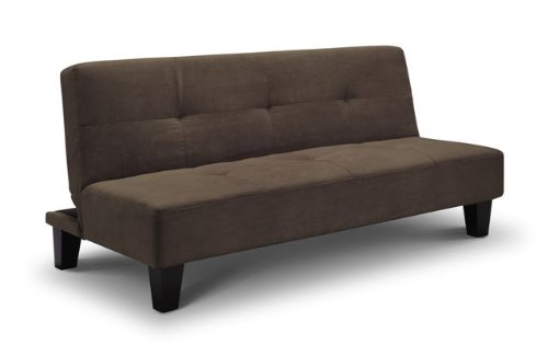 Daytona Sofa Bed in Faux Suede - Chocolate