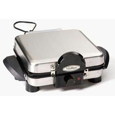VillaWare V6150 4-Square Belgian Waffler/Multi-Baker, Stainless Steel (Villaware Panini Maker compare prices)