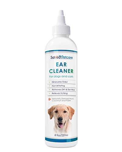 Dog Ear Cleaner Gently Removes Wax Dirt & Odor - Relieves Itching Cleans Away Infection Causing Bacteria & Yeast - Professional Strength Natural Formula - Made in USA (Dog Ear Wax Remover compare prices)