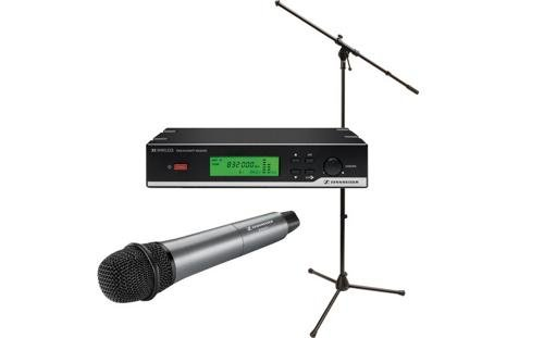Sennheiser Xsw 35 Wireless Vocal Set With E835 Cardioid Dynamic Microphone W/ Stand Package