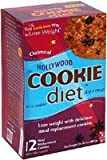 Hollywood Miracle Products Hollywood Cookie Diet Meal Replacement Cookie, Oatmeal Raisin 12