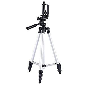 Digiant 50 Inch Aluminum Camera Tripod + Universal Tripod Smartphone Mount for Apple, Iphone Samsung and Other Brands Smartphones
