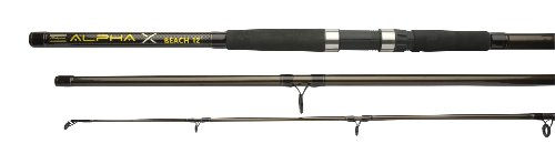 Shakespeare Alpha X Beach Rod - Black/Gold, 12 Ft