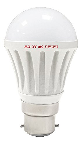 Eco B22 5W LED Bulb (Cool White, Pack of 3)