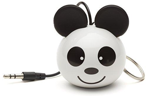 Kitsound Mini Buddy Speaker, Altoparlante Portatile Ricaricabile per iPhone, iPad, iPod, Smartphone, Tablet, Panda