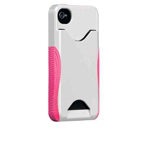 Case-Mate iPhone 4S / 4 カードホルダー付ハードケース POP! ID Case, ホワイト/ハニーサックル CM018168
