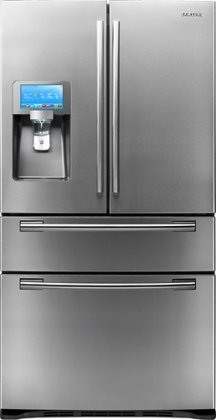 "Samsung RF4289HARS 28 Cu. Ft. Large Capacity 4-Door French Door Refrigerator - 8"" Wi-Fi Enabled LCD Screen Loaded with apps, Thru-the-Door Ice and Water, FlexZone Drawer, Energy Star: Stainless Steel"