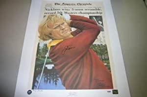 Jack Nicklaus 75 Masters Signed Lithograph bear - PSA DNA Certified - Autographed... by Sports Memorabilia