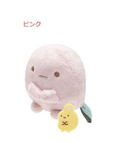 San-x Sumikko Gurashi Plush 2'' Pink Tapioka w/ Mini Yellow Tapioka - 1