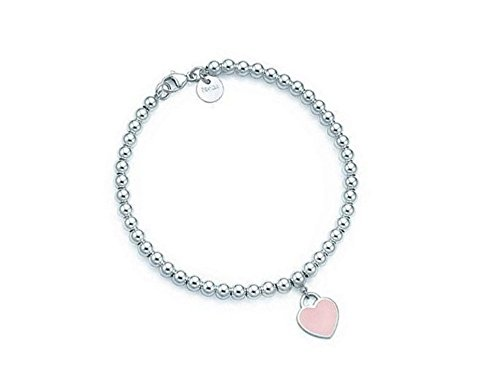 bracelet-perles-rondes-4mm-plaque-argent-sterling-925-avec-pendentif-coeur-emaile-rose