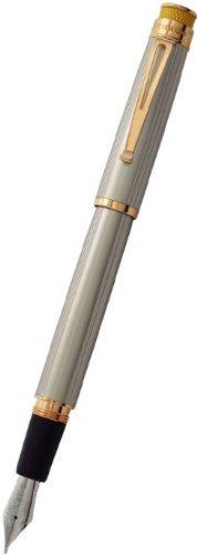 Retro 51 Tornado Fountain Pen - White Nickel Ext